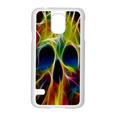 Skulls Multicolor Fractalius Colors Colorful Samsung Galaxy S5 Case (white) by BangZart