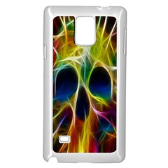 Skulls Multicolor Fractalius Colors Colorful Samsung Galaxy Note 4 Case (white)