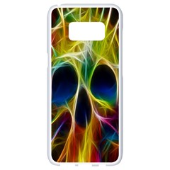 Skulls Multicolor Fractalius Colors Colorful Samsung Galaxy S8 White Seamless Case
