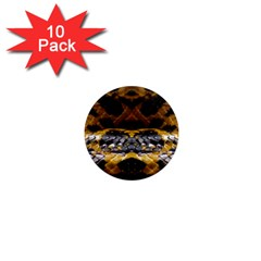Textures Snake Skin Patterns 1  Mini Magnet (10 Pack)  by BangZart
