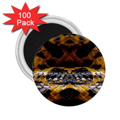 Textures Snake Skin Patterns 2 25  Magnets (100 Pack)  by BangZart
