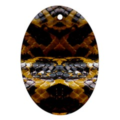 Textures Snake Skin Patterns Oval Ornament (two Sides) by BangZart