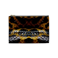Textures Snake Skin Patterns Cosmetic Bag (medium)