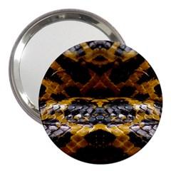 Textures Snake Skin Patterns 3  Handbag Mirrors