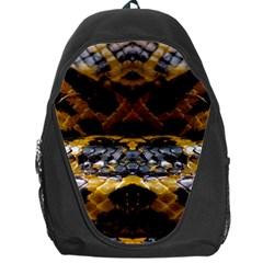 Textures Snake Skin Patterns Backpack Bag