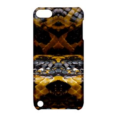 Textures Snake Skin Patterns Apple Ipod Touch 5 Hardshell Case With Stand