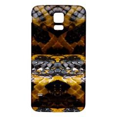 Textures Snake Skin Patterns Samsung Galaxy S5 Back Case (white)