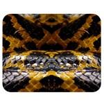 Textures Snake Skin Patterns Double Sided Flano Blanket (Medium)  60 x50 Blanket Back