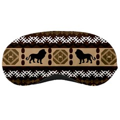 Lion African Vector Pattern Sleeping Masks
