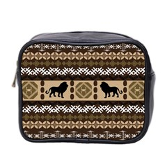 Lion African Vector Pattern Mini Toiletries Bag 2 Side