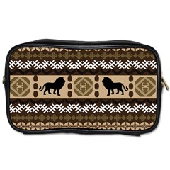 Lion African Vector Pattern Toiletries Bags 2 Side by BangZart