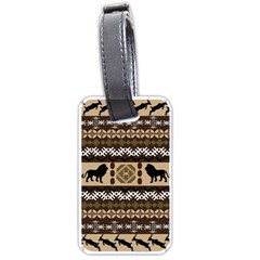 Lion African Vector Pattern Luggage Tags (two Sides)