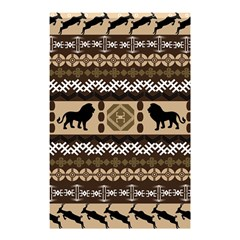 Lion African Vector Pattern Shower Curtain 48  X 72  (small)