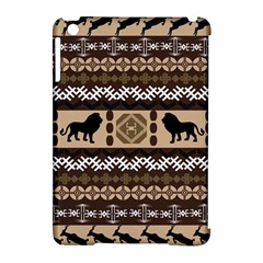 Lion African Vector Pattern Apple Ipad Mini Hardshell Case (compatible With Smart Cover)