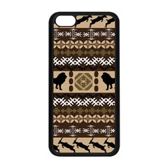 Lion African Vector Pattern Apple Iphone 5c Seamless Case (black)