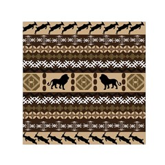 Lion African Vector Pattern Small Satin Scarf (square)