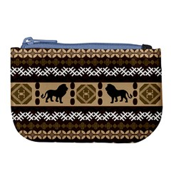 Lion African Vector Pattern Large Coin Purse by BangZart