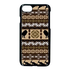 Lion African Vector Pattern Apple Iphone 7 Seamless Case (black)