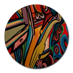 Vivid Colours Round Mousepads