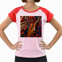 Vivid Colours Women s Cap Sleeve T Shirt