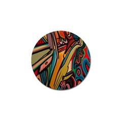Vivid Colours Golf Ball Marker