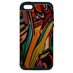 Vivid Colours Apple Iphone 5 Hardshell Case (pc+silicone)