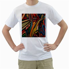 Vivid Colours Men s T Shirt (white)