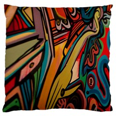 Vivid Colours Large Flano Cushion Case (one Side) by BangZart