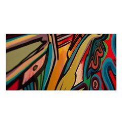 Vivid Colours Satin Shawl by BangZart