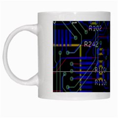 Technology Circuit Board Layout White Mugs