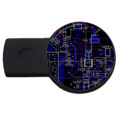 Technology Circuit Board Layout Usb Flash Drive Round (2 Gb)