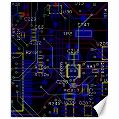 Technology Circuit Board Layout Canvas 8  X 10  by BangZart