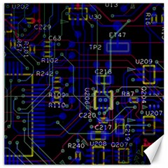 Technology Circuit Board Layout Canvas 12  X 12