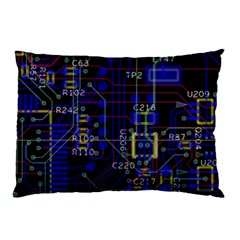 Technology Circuit Board Layout Pillow Case