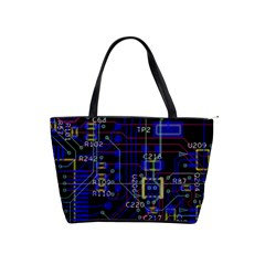 Technology Circuit Board Layout Shoulder Handbags