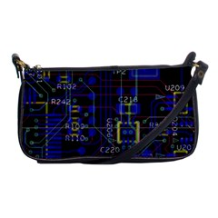 Technology Circuit Board Layout Shoulder Clutch Bags by BangZart
