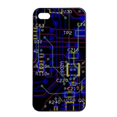 Technology Circuit Board Layout Apple Iphone 4/4s Seamless Case (black)