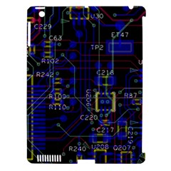 Technology Circuit Board Layout Apple Ipad 3/4 Hardshell Case (compatible With Smart Cover)