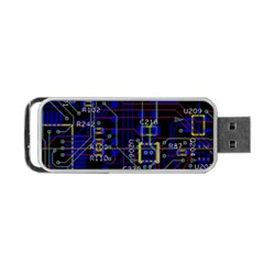 Technology Circuit Board Layout Portable Usb Flash (two Sides) by BangZart