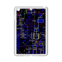 Technology Circuit Board Layout Ipad Mini 2 Enamel Coated Cases by BangZart