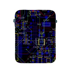Technology Circuit Board Layout Apple Ipad 2/3/4 Protective Soft Cases by BangZart