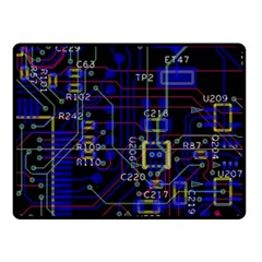 Technology Circuit Board Layout Double Sided Fleece Blanket (small)  by BangZart