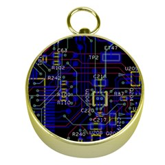 Technology Circuit Board Layout Gold Compasses