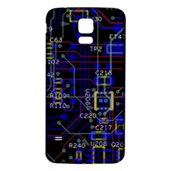 Technology Circuit Board Layout Samsung Galaxy S5 Back Case (white)