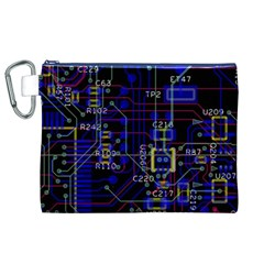 Technology Circuit Board Layout Canvas Cosmetic Bag (xl) by BangZart
