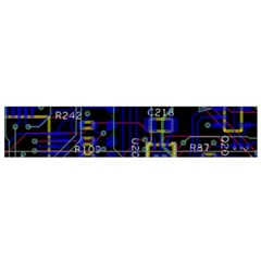 Technology Circuit Board Layout Flano Scarf (small) by BangZart