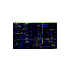 Technology Circuit Board Layout Cosmetic Bag (xs)