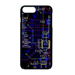 Technology Circuit Board Layout Apple Iphone 7 Plus Seamless Case (black)