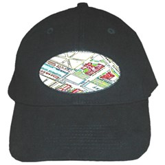 Paris Map Black Cap