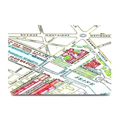 Paris Map Plate Mats by BangZart